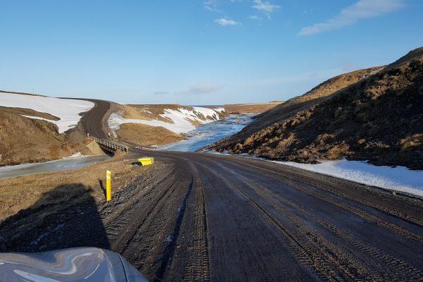 Дорога к  полуострову  Snæfellsnes
