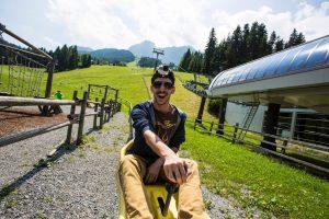 Покатушки на альпийских летних санках Abtenau